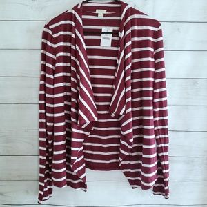 J Crew Striped Always Cardigan